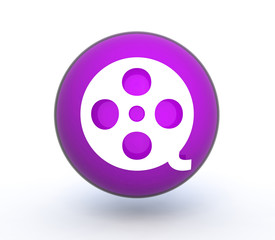 film sphere icon on white background