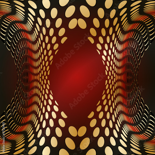 Illustration red abstract circle background