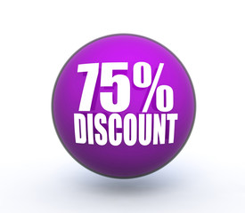 discount sphere icon on white background