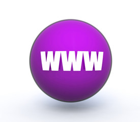 www sphere icon on white background