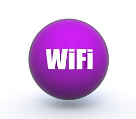wifi sphere icon on white background