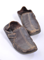 Old shoes of brown