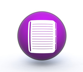 notebook sphere icon on white background