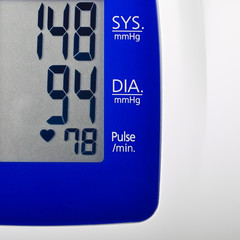 High blood pressure reading