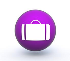 bag sphere icon on white background