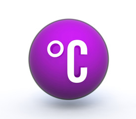 celsius sphere icon on white background