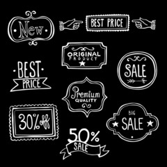 Vintage Sales Labels - Doodles