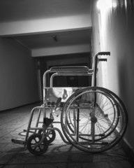 Wheelchair in the old hospital