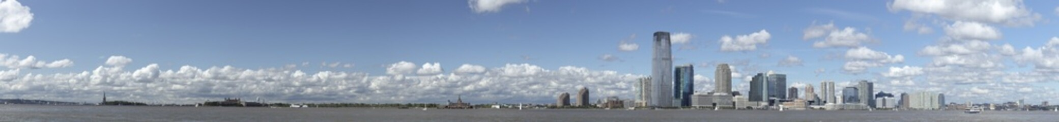 New Jersey panorama with Statue of Liberty HiRes