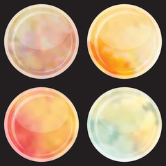 Watercolor buttons set.