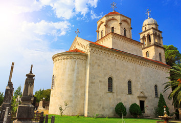 Amazing view of Savina monastery in Herceg Novi