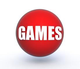 game sphere icon on white background