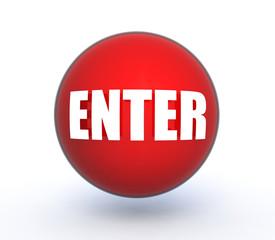 enter sphere icon on white background
