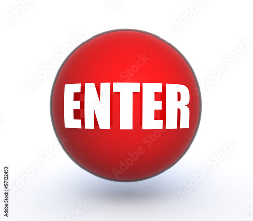 enter sphere icon on white background