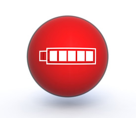 battery sphere icon on white background