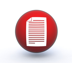 paper sphere icon on white background