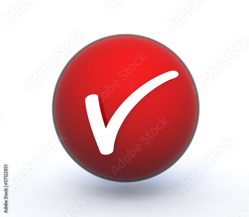 check sphere icon on white background