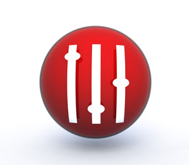 equalizer sphere icon on white background