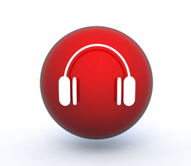 music sphere icon on white background