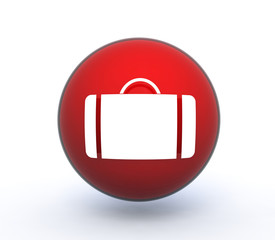 bag sphere icon on white background