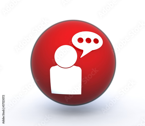 forum sphere icon on white background