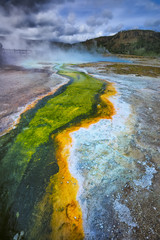 Geyser Basin, Yellowstone National Park, Wyoming