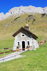 The little chapel in the mountains