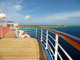 Fototapety Deck and rail on a cruise ship