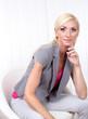 Business woman portrait in office