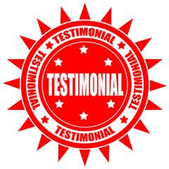 Testimonial-label