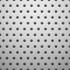 White metal texture with holes