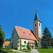 Leinwanddruck Bild - Parish Church of Raabs an der Thaya, Waldviertel, Lower Austria