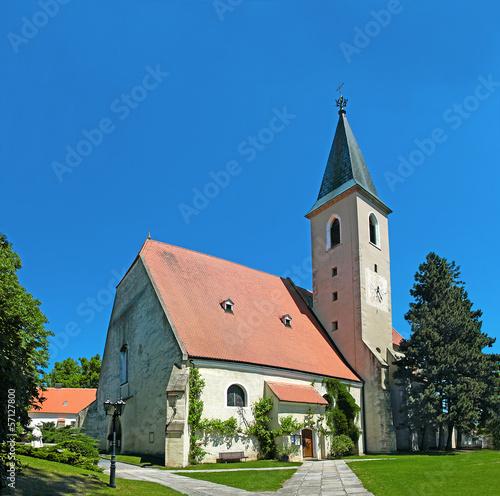 Leinwanddruck Bild Parish Church of Raabs an der Thaya, Waldviertel, Lower Austria