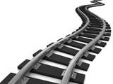 Curve train tracks