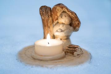 Schneemann aus Keramik