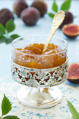 Homemade jam of white figs.