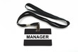 Manager badge isolated on white background