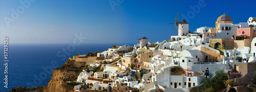 Oia village on Santorini island, Greece. © serg_dibrova