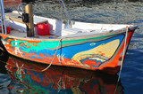 feature colorful fishing boat