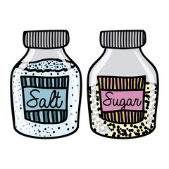 salt and sugar drawing
