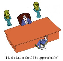 Approachable leader