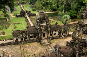 Angkor -  Baphuon temple, top view