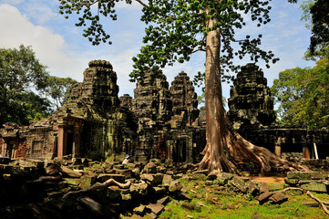 Angkor - Banteay Kdei temple, wide view