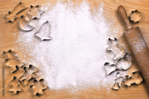 Background with cookie cutters