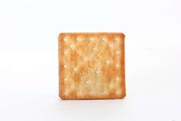 Brown square cracker