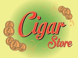 Retro Cigar Store Sign