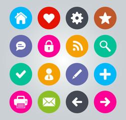 Flat Design icons - Basic web icons