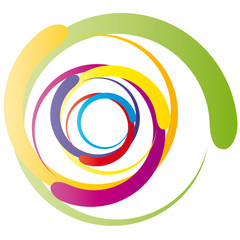 Wirbel - leuchtende Farben - Logo