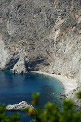 A secluded beach in Kefalonia Greece.