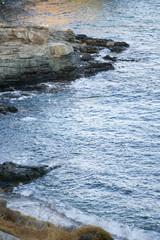 View of Mediterranean sea at sunset